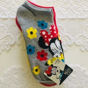 Disney girls' Minnie Mouse socks, set of 6 pair